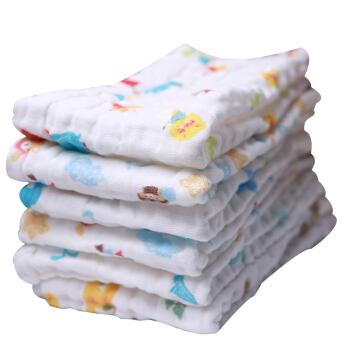 喜亲宝 6层纱布婴儿毛巾 (50× 26厘米、4条装)
