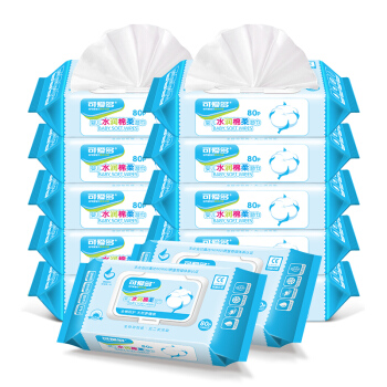 Cutebaby 可爱多 婴儿水润棉柔湿巾 (80片*12包)