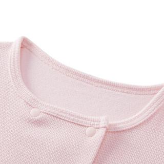 PurCotton 全棉时代 2000252801 婴儿针织提花外套 73/48(建议6-12个月) 粉