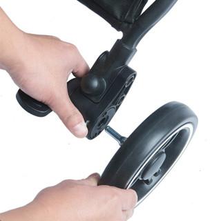 荟智 HC588-M112G 可折叠舒适型四轮婴儿推车 樱花粉