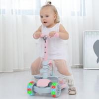 炫梦奇 8805 可拆卸带闪光可调档可坐儿童滑板车 粉色