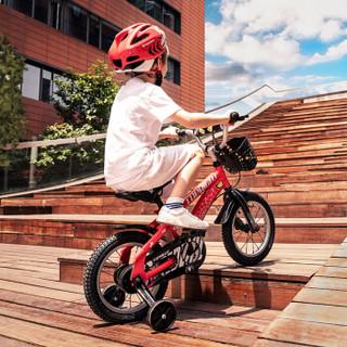 途锐达(TOPRIGHT)儿童自行车 男孩单车 脚踏车4/6/8岁小孩玩具车平衡车滑步车电动车 经典版蜘蛛侠 红色 14寸