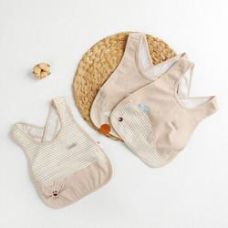威尔贝鲁(WELLBER)婴儿罩衣 宝宝彩棉防水围兜 *7件