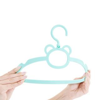 AUSTTBABY 儿童晾衣架 宝宝衣架婴儿防滑衣架  双色10个装