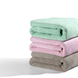 babycare婴儿浴巾 新生儿宝宝纱布毛巾吸水洗澡巾儿童 3240薇粉 70*140cm