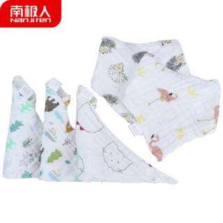 Nan ji ren 南极人 宝宝可爱印花三角巾 (45*30*30cm、3条装)