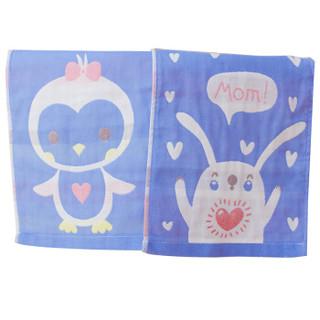 喜亲宝 纱布婴儿毛巾口水巾 (50×25cm,2条装)
