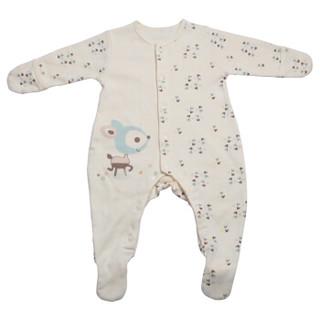 雅氏(Yeah's)婴儿针织长袖连体衣新生儿连体衣宝宝爬服全棉2件装73码适合6-9个月