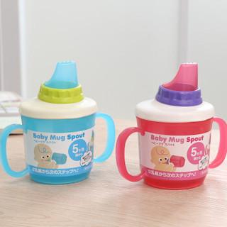 柳濑 儿童鸭嘴杯 宝宝水杯 学饮杯 日本进口婴儿训练防漏水壶LB7517蓝色