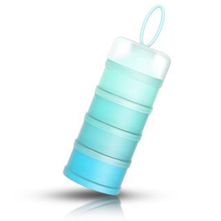 MillyMally 独立开口四层便携式奶粉盒 蓝色
