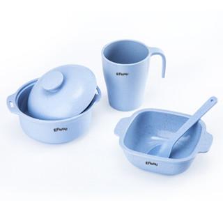 樱舒(Enssu)婴儿辅食碗儿童餐具套装组合 宝宝餐碗盒新生儿勺子婴幼儿调羹ES3111