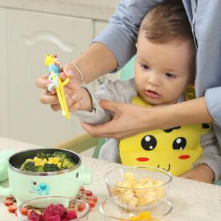 TEENUNIX 天美优客 儿童餐具套装 (藕荷粉)