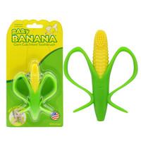 香蕉宝宝(Baby Banana)婴儿牙胶 美国品牌婴儿安抚奶嘴磨牙棒 可水煮宝宝玩具儿童牙刷 玉米牙胶