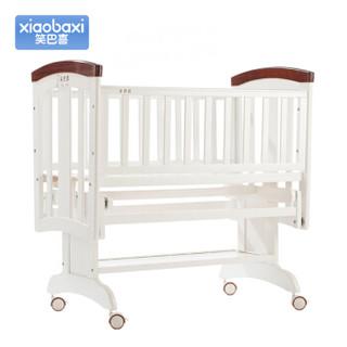 笑巴喜 MC211 婴儿床 (80*40CM、松木、白色)