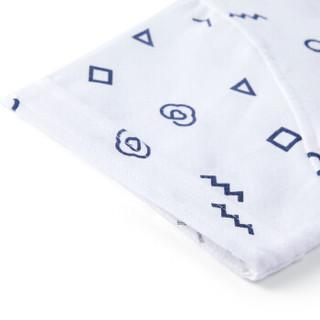 PurCotton 全棉时代 2000213302 男童纱布短袖套头衬衫 130/60(建c议8-9岁) 白底几何