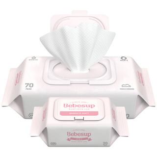 Bebesup 宝必舒 婴儿手口湿巾 (70片*2包+20片*4包)