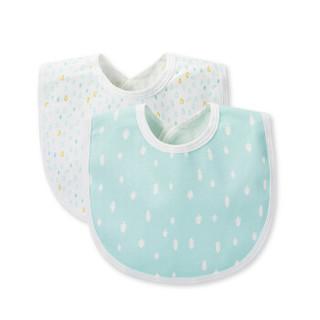 PurCotton 全棉时代 婴儿纱布复合口水兜 ( 22*30cm 2条装)
