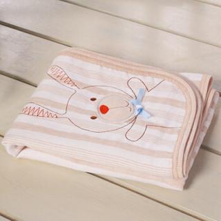 威尔贝鲁(WELLBER)婴儿毯子 新生儿纱布盖毯宝宝空调被四季盖被 100x75cm