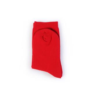 PurCotton 全棉时代 儿童中长筒休闲袜15*13cm (红色、16-18cm 建议4-6岁)