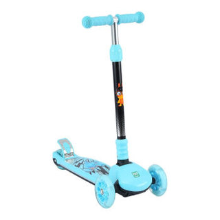 Happy Dino 小龙哈彼 LSC160-Q103 三轮闪光可折叠儿童踏板车 蓝色