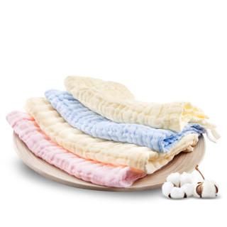Baby elephant 红色小象 婴儿纱布面巾 (两条装)