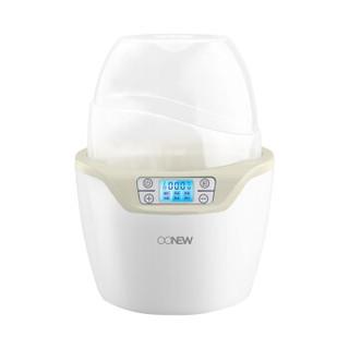 喔喔牛(oonew) 暖奶器消毒器二合一 婴儿热奶器多功能智能双瓶暖奶器 TB-1406 典雅灰