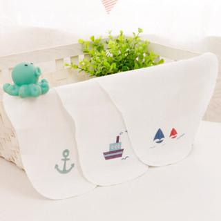PurCotton 全棉时代 婴儿纱布汗巾 25*50cm (3条/袋*3 )