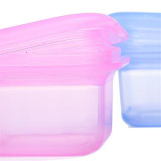 partita 变奏曲 儿童硅胶食物保鲜盒 (100ml、2个、水晶红+水晶蓝)