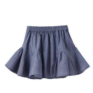 PurCotton 全棉时代 女童梭织牛津纺短裙 (深蓝)