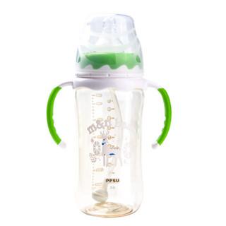 m&n bear 咪呢小熊 婴儿PPSU宽口径铂尊奶瓶 (330ml)