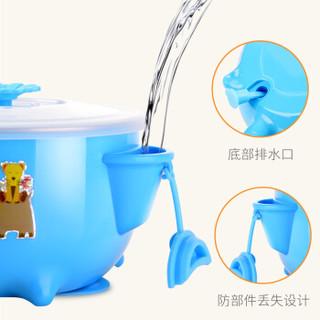 序言 宝宝辅食碗儿童餐具吸盘碗 (蓝色)