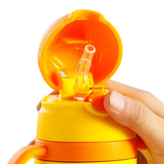 Disney 迪士尼 儿童吸管水杯 (350ml、橙色)