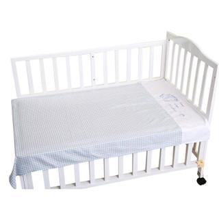 喜亲宝 竹纤维婴儿床单 (蓝色、128*78cm)