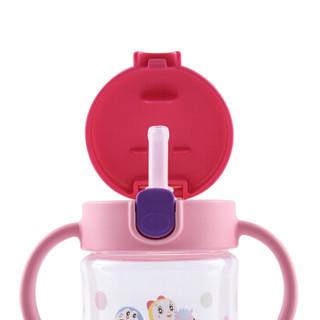 Richell 利其尔 儿童学饮吸管杯 (粉色、200ml)