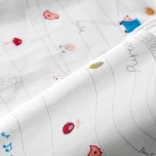 PurCotton 全棉时代 婴儿纱布复合口水兜 (森林乐章+森林蓝梅花、22*30cm、2条装)