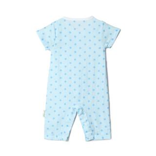 PurCotton 全棉时代 婴幼儿纱布短袖连体服 (蓝底星星+帆船、2件装)