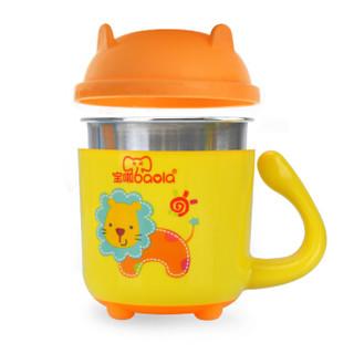 baola 宝啦 宝宝不锈钢学饮杯 (270ml、黄色)