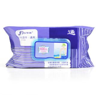 三仕达 清洁护肤湿纸巾 (100片*3包)