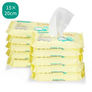 PurCotton 全棉时代 婴儿纯棉湿巾 (20*15cm、20片/袋*10袋)
