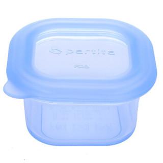 partita 变奏曲 儿童硅胶水果辅食分隔保鲜盒 (180ml、水晶蓝)