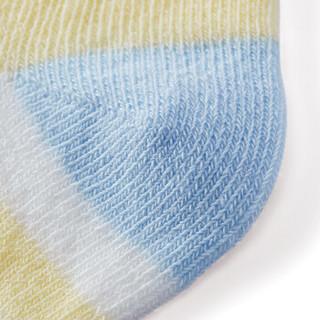 PurCotton 全棉时代 幼儿提花袜 2双装 (13cm、浅黄+天蓝、男款)
