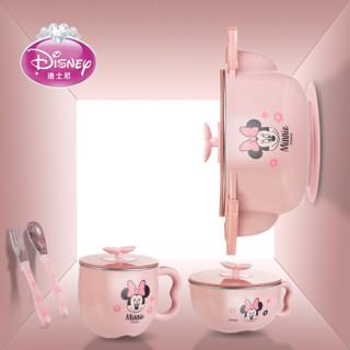 Disney 迪士尼 儿童保温碗5件套 (280*100*305mm、粉色)