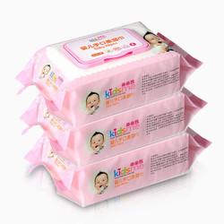 亲亲我(kidsme)婴儿手口湿巾80片带盖*3包 *2件