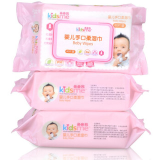 kidsme 亲亲我 婴儿手口湿巾 (80片*3包)