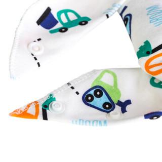 欧育 婴儿三角口水巾 (5条装、男)