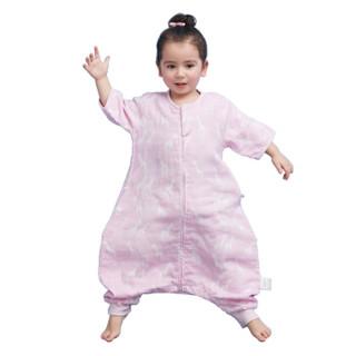 misslele 米乐鱼 婴儿纱布睡袋 (长颈鹿紫、80码)
