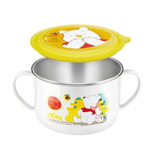 Disney 迪士尼 维尼可分离儿童不锈钢饭碗 (单个装、白色、550ml)