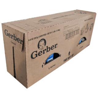 Gerber 嘉宝 婴幼儿米粉 (227g*6/罐、三段 8个月以上、香蕉草莓燕麦)