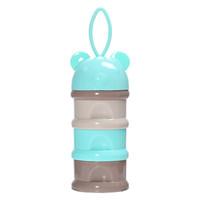 蔓葆 便携婴儿辅食盒 (单层170ml、单个装、硅胶、蓝色)