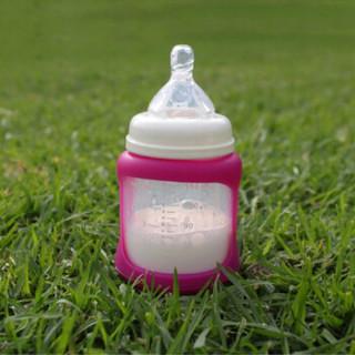 趣乐贝比 Cherub Baby 婴儿温感奶瓶 (150ml、粉色)